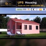 Pequeña casa del chalet de la prueba modular verde del terremoto en países de la isla