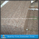 Escalier d'intérieur Polished d'opération de la pêche G687 de pierre rouge bon marché de granit