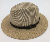 서류상 붙어 있는 벨트를 가진 밀짚 모자에 의하여 인쇄되는 모자 (Sh023)