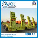 3 차축 60-80tons 낮은 침대 트레일러 또는 반 Lowboy 트럭 트레일러