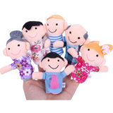 Marionnette tôt de doigt de peluche de famille d'éducation