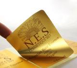 Kundenspezifisches Drucken-goldener anhaftender Aufkleber-Kennsatz