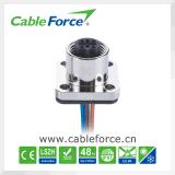 Männlicher Typ Panel-Montierungs-Verbinder des Flansch-M12 für industrielle Automatisierung mit Draht