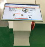 Publicidad del suelo de la visualización del LCD que coloca el quiosco del monitor de la pantalla táctil 43-Inch