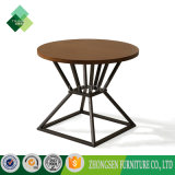 最も売れ行きの良く安いステンレス鋼の木の円形のコーヒーテーブル