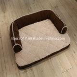 Bases luxuosas do sofá do cão dos produtos do animal de estimação da tela da camurça da base do animal de estimação grandes