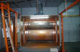 Línea que pinta (con vaporizador) del polvo del color para el aluminio del metal