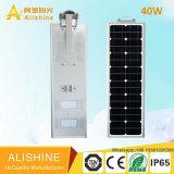 Luz de calle solar integrada de 40W para el cuadrado de la calle del jardín