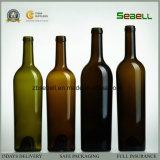旧式な緑色(NA-019)のコルクの上が付いている750mlワイングラスのびん