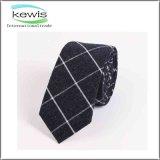 cravate contrôlée bleue noire rouge de coton de 0.06kg 145cm