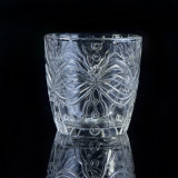 蝶装飾のためのガラス蝋燭ホールダー
