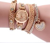 Yxl-401中国Relojes Mujer 2016の方法女性の偶然の革織り方の覆いの腕時計のダイヤモンドの魅力のブレスレット