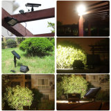 Impermeable de 30 LED con energía solar en primer plano de inundación del sensor de movimiento luz al aire libre del jardín de la lámpara