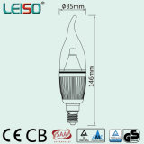 шарик свечки Dimmable СИД формы пламени 5W 90ra E14/B15 (LS-B305-SB-A-CWWD/CWD)