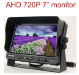 Ahd 720p 7inchデジタルLCD車の背面図のモニタ