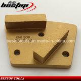 Almofada de polonês bond do metal para a moedura e o polonês concretos