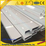 Aluminiumstrangpresßling-Profil-Puder-Beschichtung-quadratisches Gefäß-Aluminiumprofil