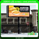 LED 스크린 도로 측에 있는 전시 게시판을 광고하는 옥외 디지털 Signage