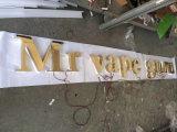 Sainless Stahlmessingüberzug galvanisierte angestrichenes fabriziertes Zeichen-Zeichen