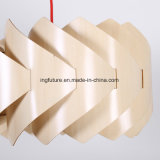 Ensembled Authentic Design Wooden Uroborus Windmill Pendant Lamp