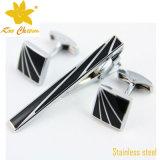 Barras de laço feitas sob encomenda do ornamento de China do aço inoxidável do logotipo Tieclip-003