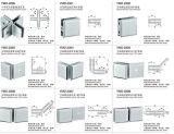 스테인리스 정연한 Fastness를 위한 Frameless 샤워 부속품은, 90 Deg 두 배 또는 세련 반원형 Fastness Calmp를 135 Deg Sinlge 죈다