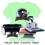 A4 Hierro-en el papel de traspaso térmico de la luz de la inyección de tinta para la camiseta
