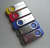Venta al por mayor de Rotary USB Flash Drive Metal Mini pequeño regalo 128MB-128GB