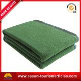 ブラウンの軍隊のウール毛布のドバイ専門の毛布の歪め編む毛布