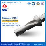 Níquel que cubre las herramientas Drilling indexables Ud30 del taladro de la alta precisión U con la pieza inserta Spgt Spmg del carburo