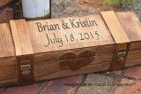 Rectángulo de madera personalizado del vino de la ceremonia con el rectángulo de madera Bisagra-Bloqueable bloqueable del vino 2