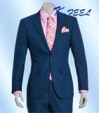 Customerizedの卸し売り男性ジャカード方法海軍スーツ