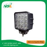 diodo emissor de luz do ponto de 4inch 48W fora do caminhão do barco do carro da lâmpada 12V 24V da luz do trabalho de estrada que conduz o Ute