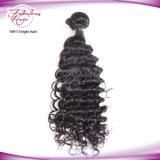 Уток человеческих волос девственницы волны роскошного качества малайзийский глубокий