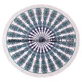 원형 비치 타올의 둘레에 인쇄되는 폴리에스테