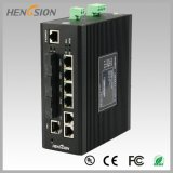 Porta 8 com interruptor industrial controlado Fx da rede 2 Ethernet
