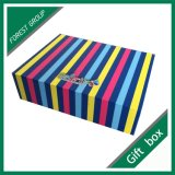 Boîte-cadeau élégante de bijou de papier cartonné