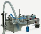 Máquina de rellenar del llenador líquido principal doble semiautomático de la bomba para la línea de embalaje
