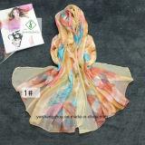 Повелительница Способ Шелк Шарф полотенца пляжа солнцезащитный крем печатание пера