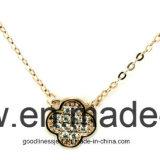 Le cuir chanceux de forme de fleur de la Corée de type populaire de bijou enchaîne le collier pour les femmes C001 de fille