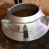 OEMの円錐形の粉砕機の摩耗の部品ボールはさみ金のふたの凹面の監視版
