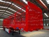 중국 3 차축 60ton 가축 살아있는 주식 또는 화물 또는 반 곡물 수송 말뚝 트레일러