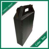 Boîte Shaped à vin de Chambre noire de Matt de 3 paquets