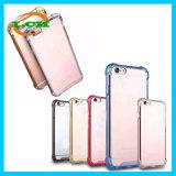 Caixa da armadura transparente desobstruída de TPU e de PC para o iPhone 7/6s/6