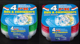 Le plastique de Sqaure emportent le conteneur de nourriture de Microwavable 20oz