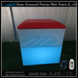 Moderner geleuchtete LED Möbel des RGB-nachladbarer Würfel-Stuhl