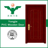 Porte d'entrée intérieure de modèle de portes en bois modernes neuves de PVC