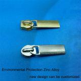 Testa della chiusura lampo con il materiale in lega di zinco di protezione dell'ambiente