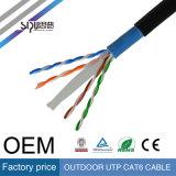 Cable al aire libre impermeable de la chaqueta CAT6 SFTP del precio de fábrica de Sipu 4pr