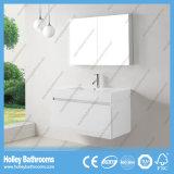 Vaidade elevada do banheiro da pintura do lustro com a gaveta do metal do cavalo e o gabinete do espelho (BF369D)
